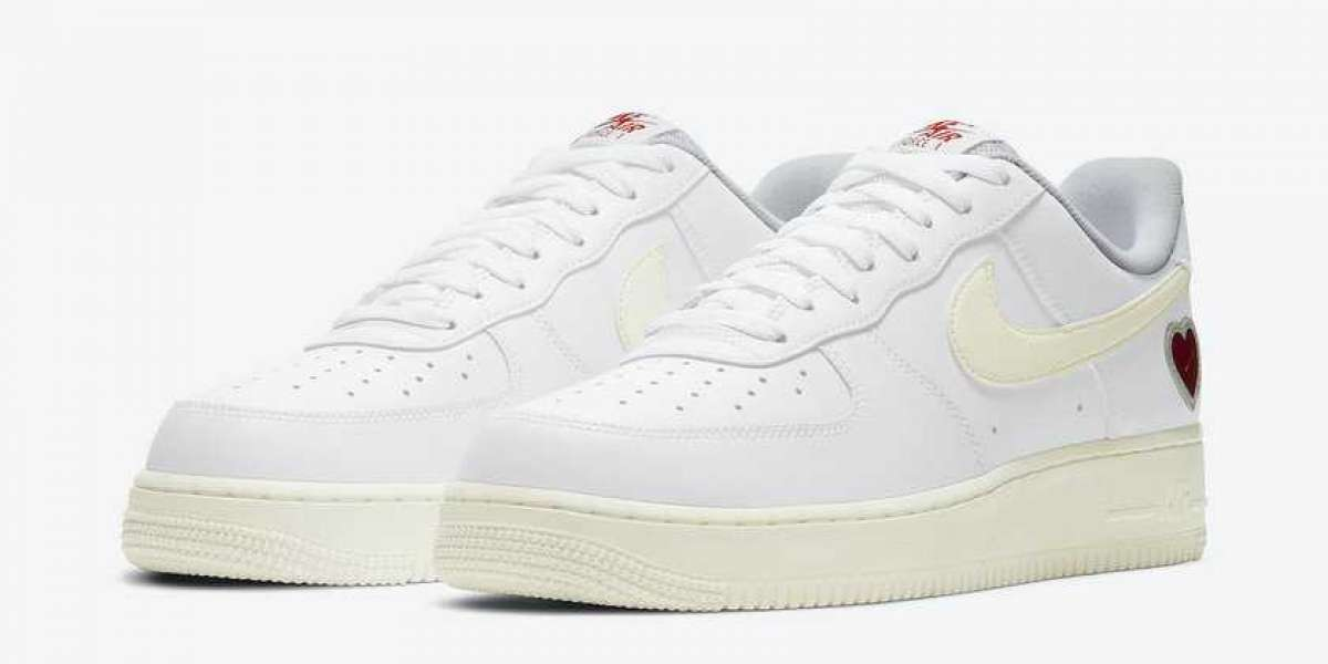 """DD7117-100 Nike Air Force 1 """"Valentine's Day"""" White/Sail-University Red Will Be Released In February 2021"""