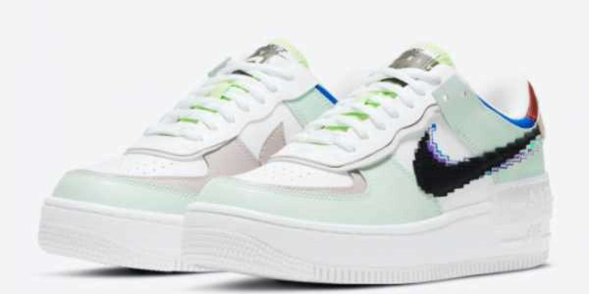 "2021 Nike Air Force 1 Shadow ""Pixel"" Casual Shoes CV8480-300"